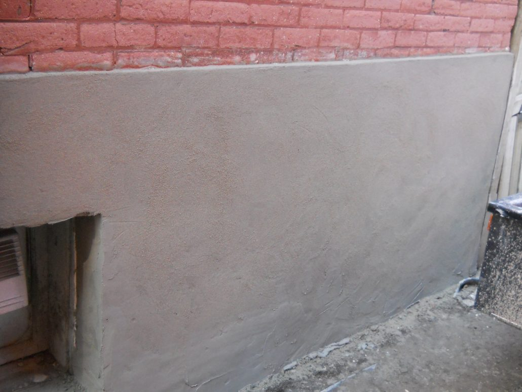 Parging canadian masonry services for Parging interior basement walls